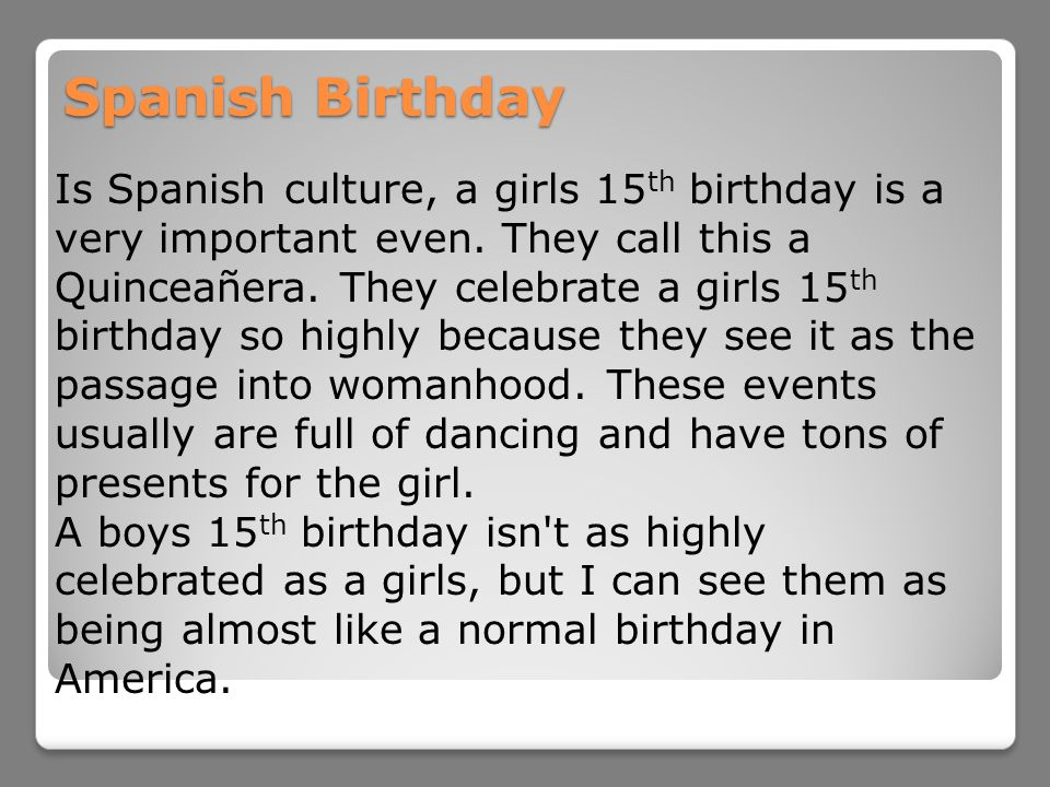 Spanish Birthday