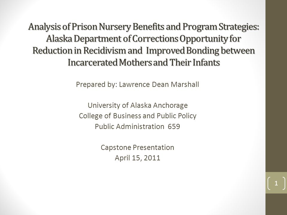 prison based nursery programs Prison nursery programs and community-based co-residence facilities are the primary intervention strategies release from a nursery program is currently the positive outcome with the most empirical support opening the window of opportunity for prison nursery programs the magnitude of.