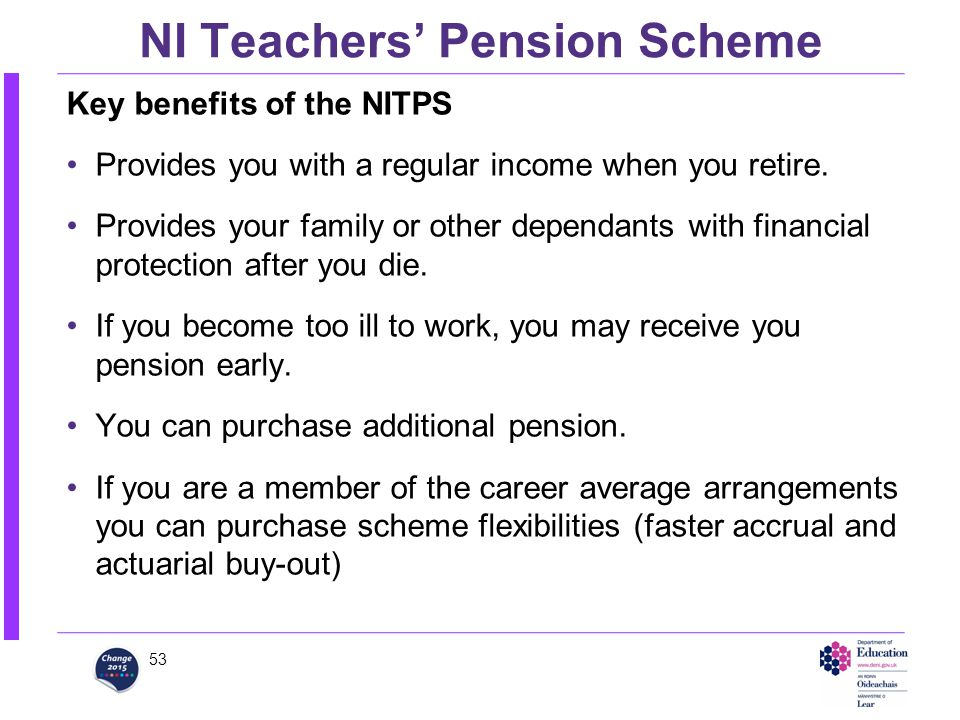 teachers pensions flexibilities