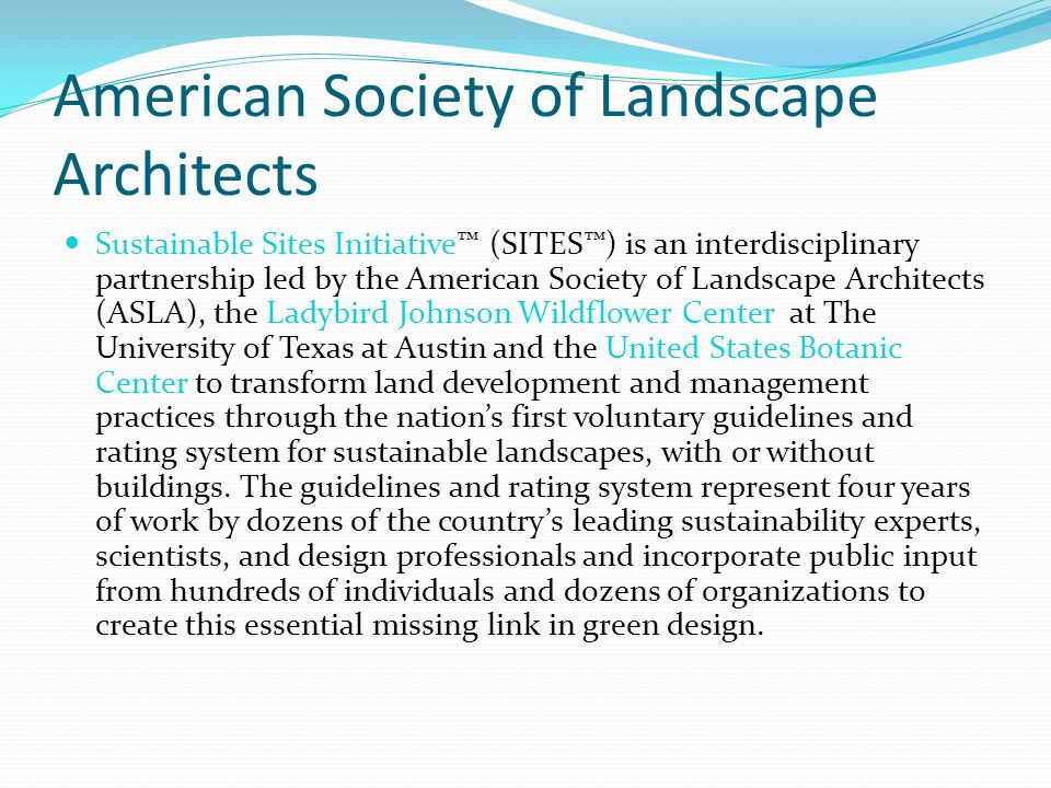Briefing to the green industry ppt download for Society of landscape architects