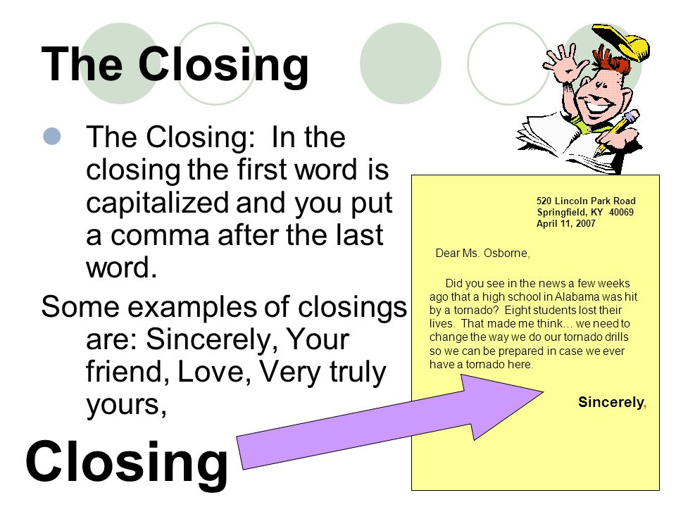 writing friendly letters ppt