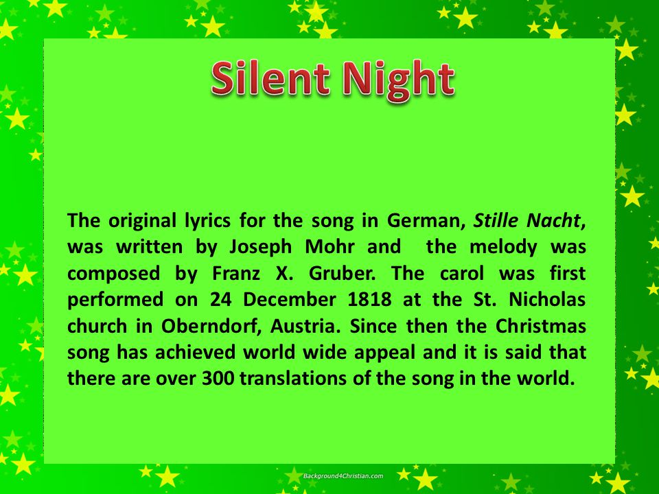 Silent night holy christmas song download