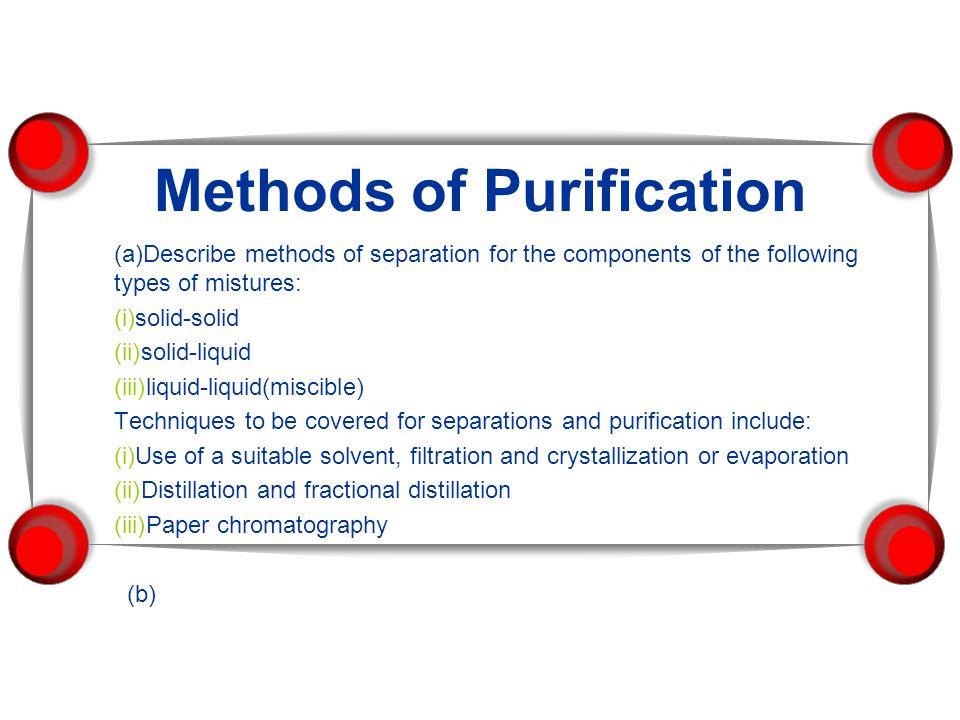 Methods of Purification