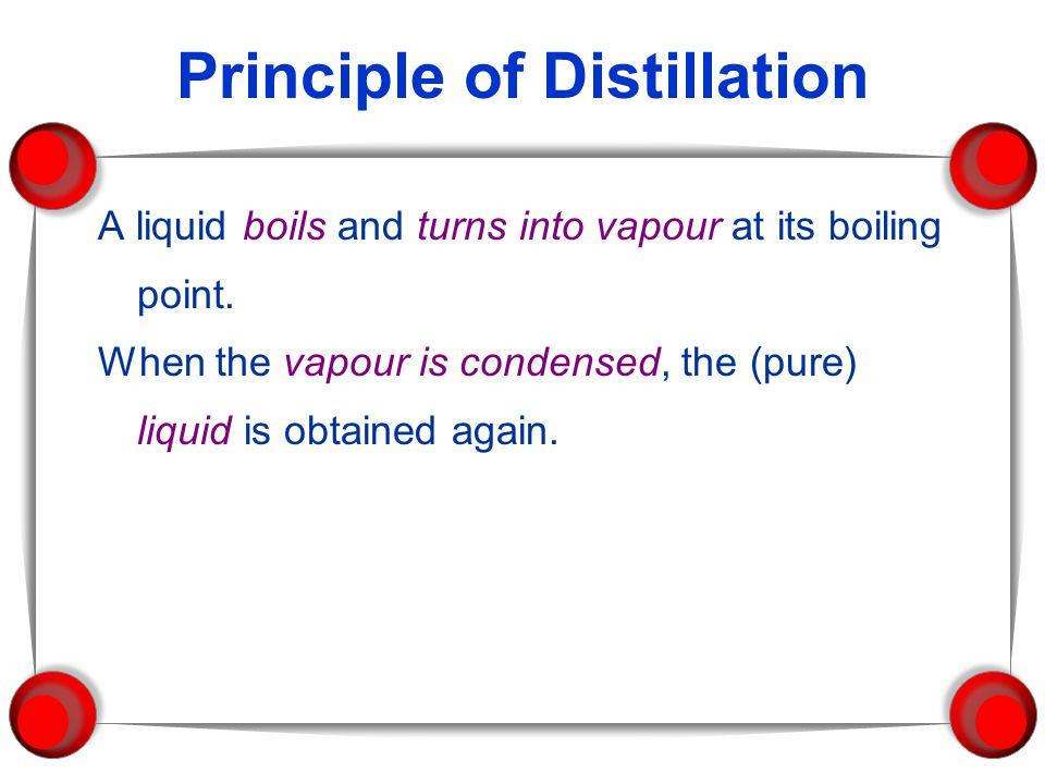 Principle of Distillation