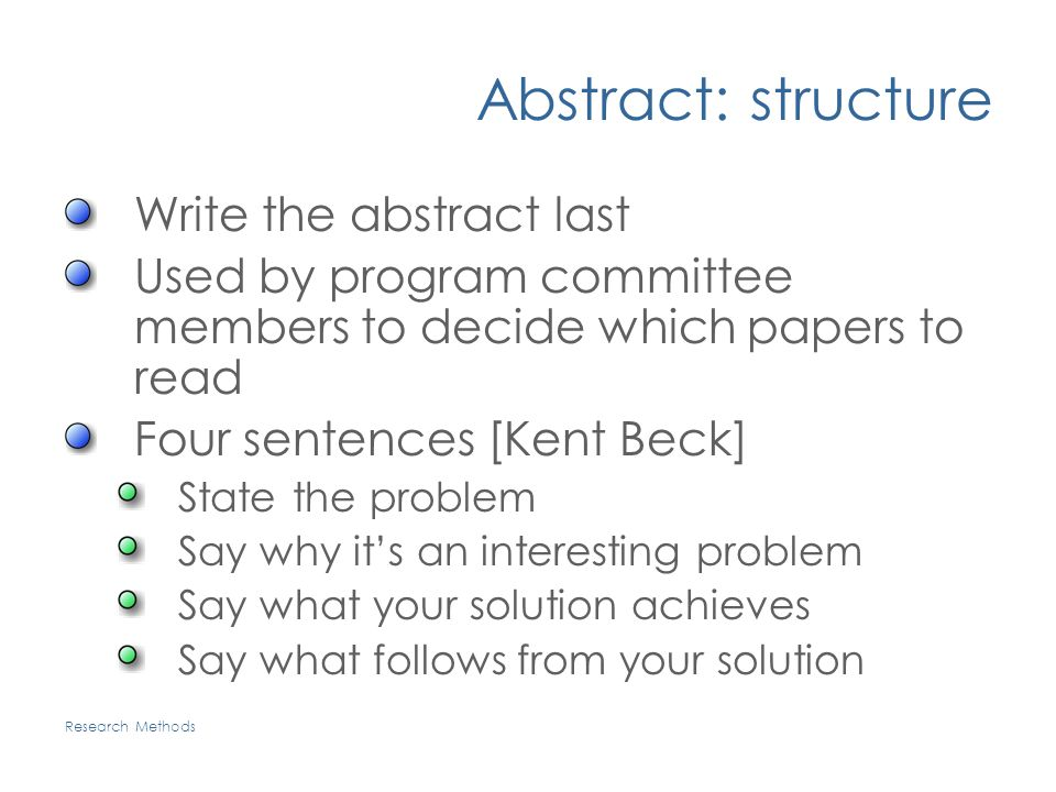 abstracts writing research papers Hello all, now that we have finished most of the work related to writing a research paper it is time to think about creating an abstract for it research papers.