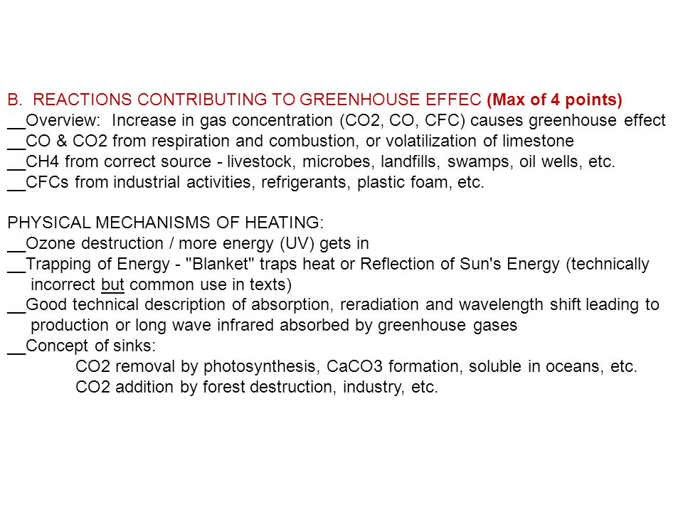 weekly essay prompts fall semester ppt  b reactions contributing to greenhouse effec max of 4 points