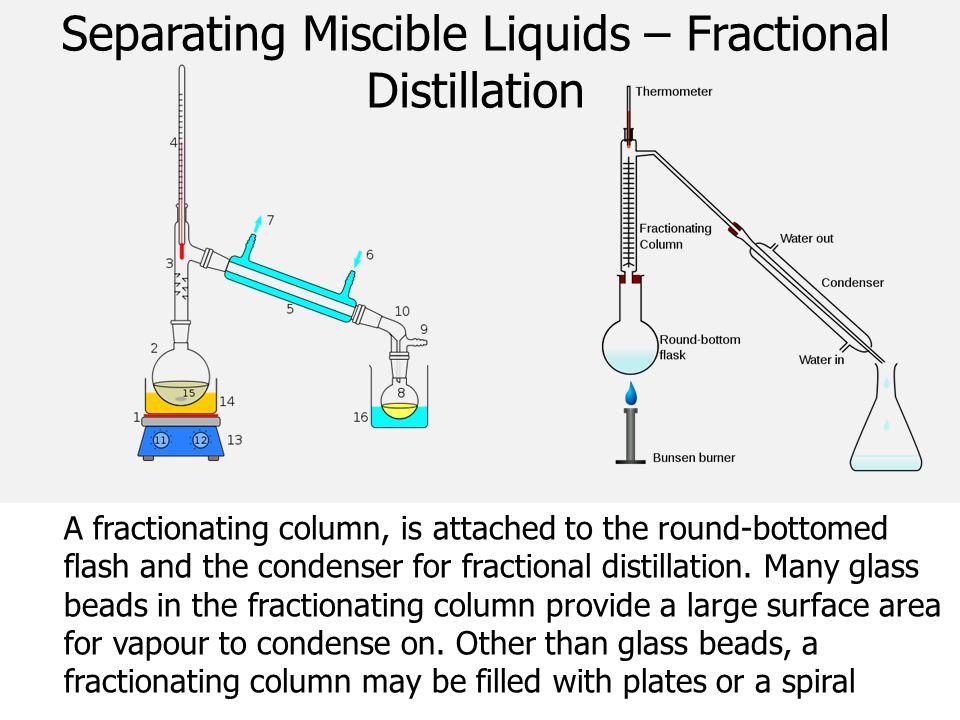 Separating Miscible Liquids – Fractional Distillation