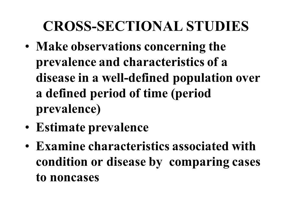 33 CROSS SECTIONAL STUDIES