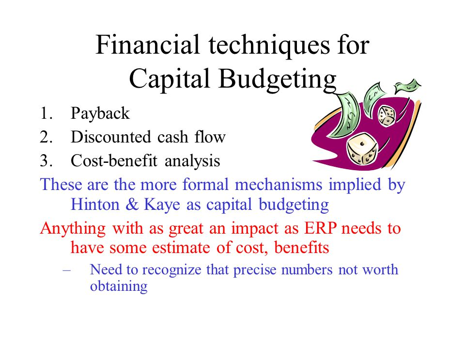 a summary of capital budgeting techniques Capital budgeting practices of the fortune 1000: this person may not be the best to assess the capital budgeting process if he/she is far.