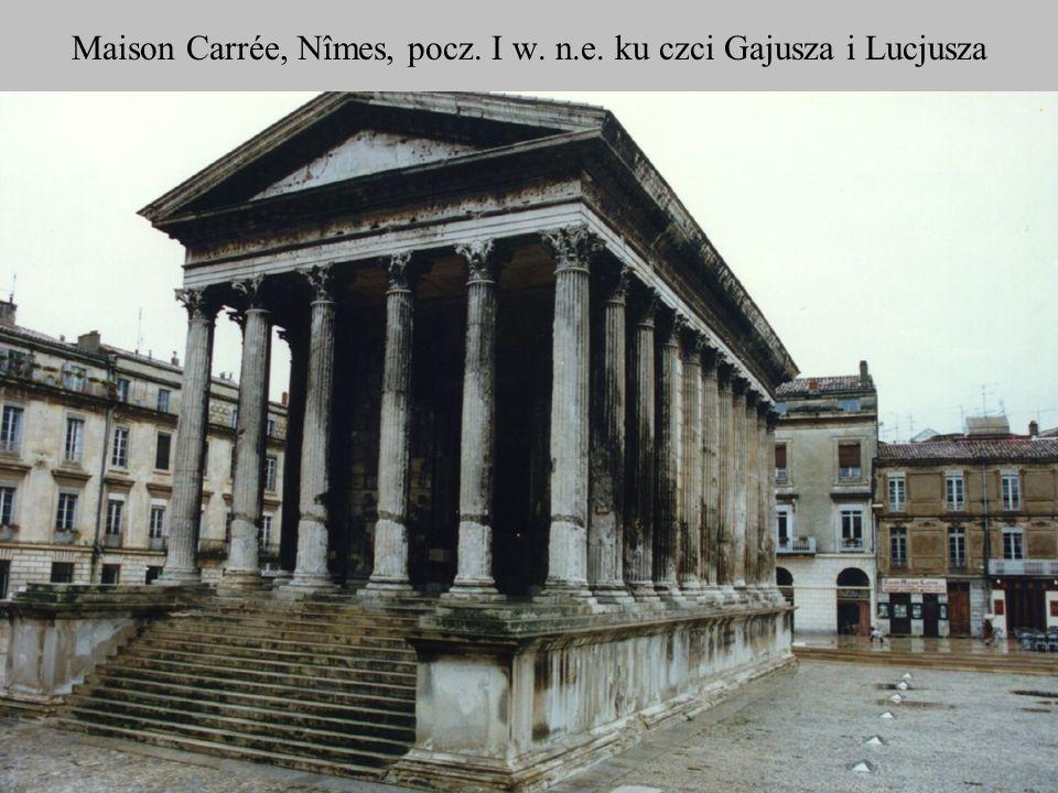 Maison Carrée, Nîmes, pocz. I w. n.e. ku czci Gajusza i Lucjusza