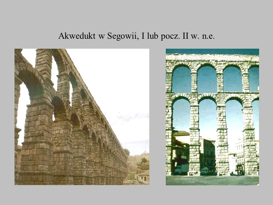 Akwedukt w Segowii, I lub pocz. II w. n.e.