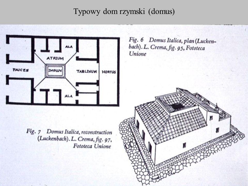 Typowy dom rzymski (domus)