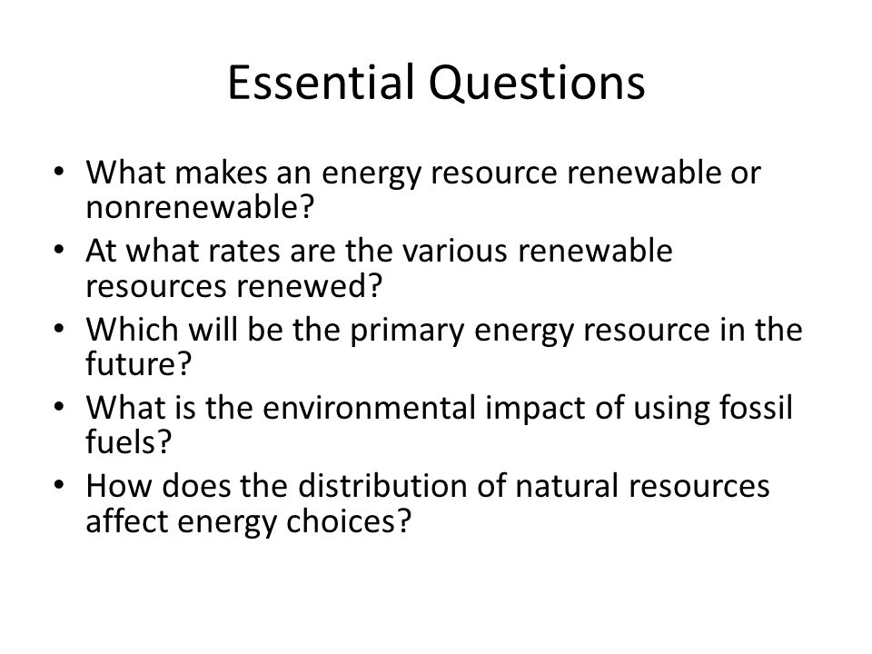 Fossile fuels and alternative energy resource