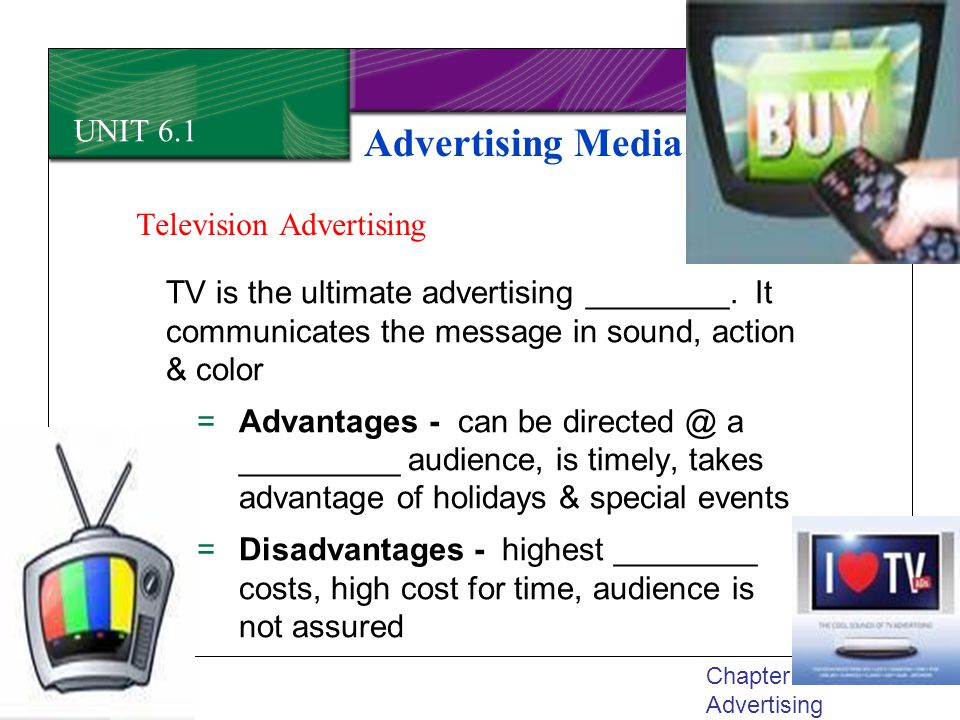 Advertising Media UNIT 6.1 Television Advertising