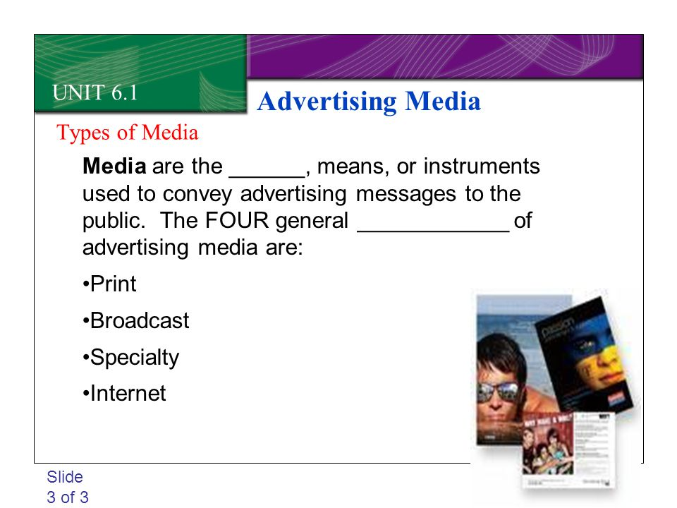 Advertising Media UNIT 6.1 Types of Media