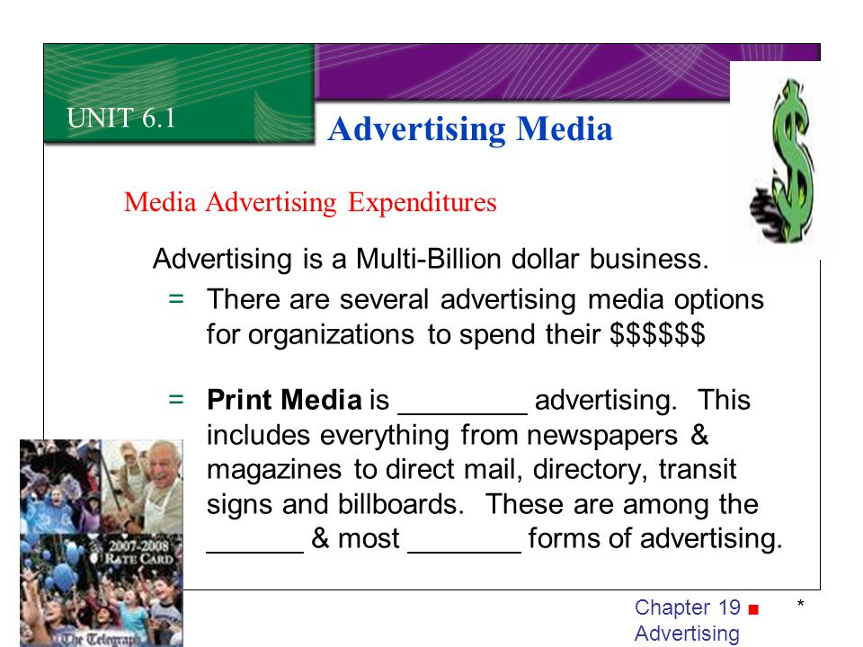 Advertising Media UNIT 6.1 Media Advertising Expenditures
