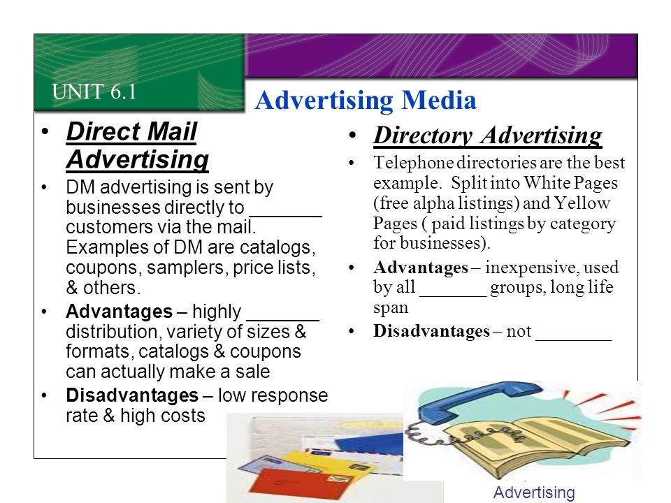 Advertising Media Direct Mail Advertising Directory Advertising
