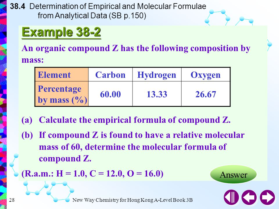 determination of chemical formulae Learn about how chemical formulae and reaction information can be written  using symbol equations with bbc bitesize gcse chemistry.