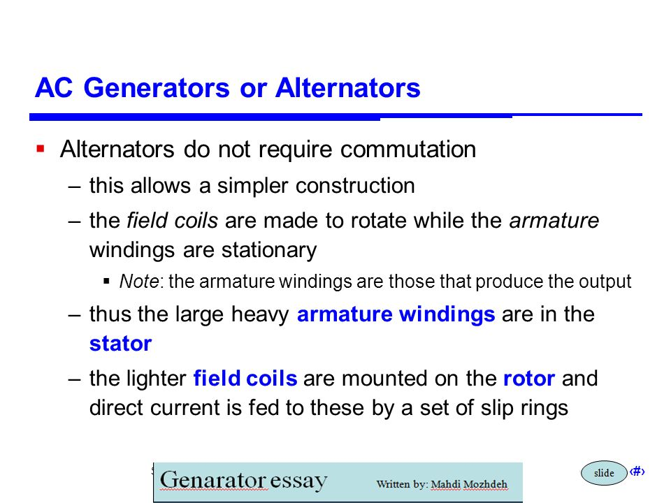 AC Generators or Alternators