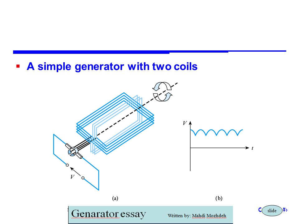 A simple generator with two coils