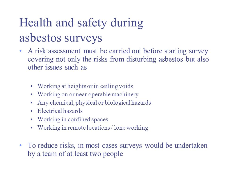 W504 Asbestos Product Types Uses In Buildings And Surveys