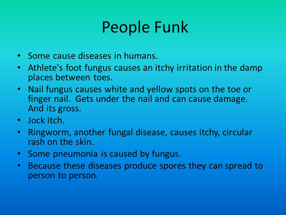 Diseases Caused By Fungi In Humans