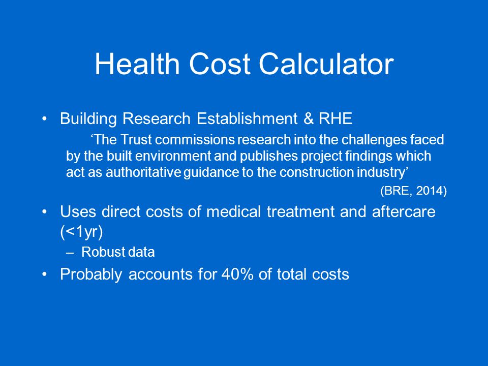 The housing health and safety rating system ppt download for Cost to build calculator free
