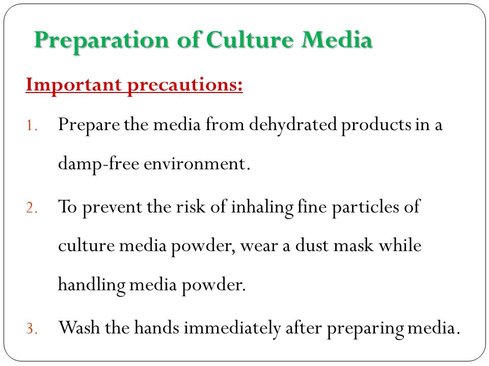 culture media preparation essay Uc davis is one of the world's leading cross-disciplinary research and teaching  institutions, located in davis, california check out our latest videos and news.