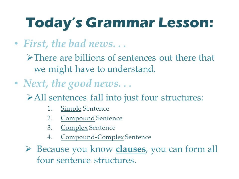 Today's Grammar Lesson: