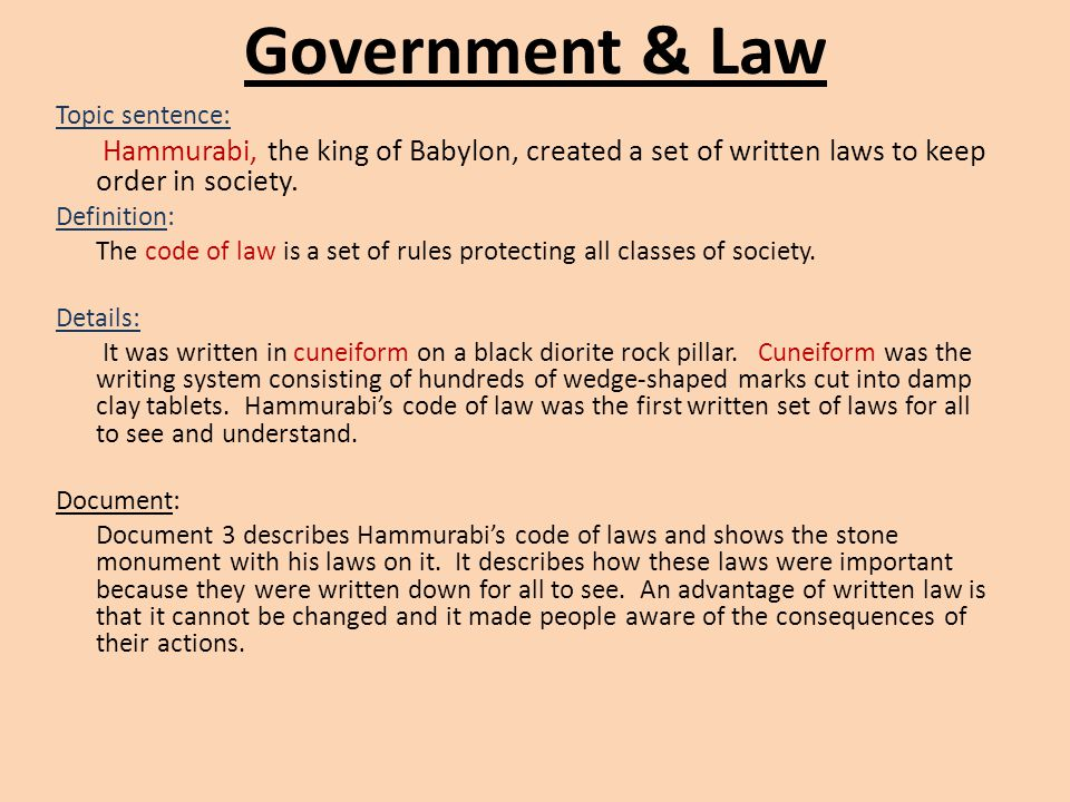 writing a social studies essay document based questions essay  government law topic sentence hammurabi the king of babylon created a set