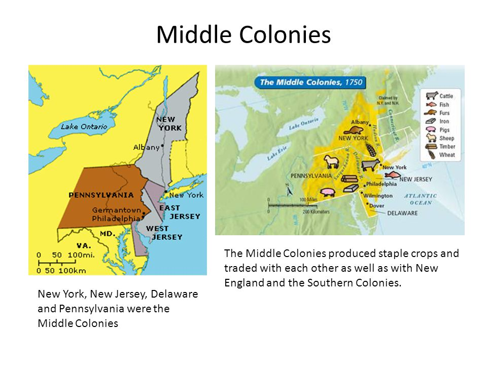 a comparison of the features of new england the middle colonies and the southern colonies The southern colonies, or plantation colonies, included maryland, virginia, north carolina, south carolina, and georgia all of these colonies exported some type of agriculture, mostly tobacco and rice.