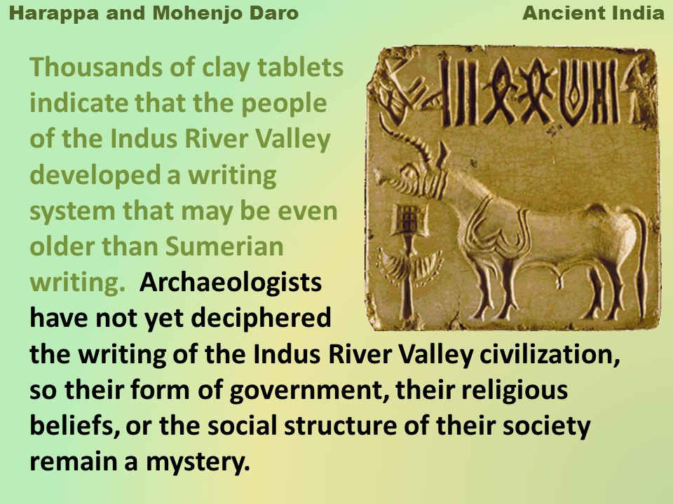 Harappa and Mohenjo Daro Ancient India - ppt download