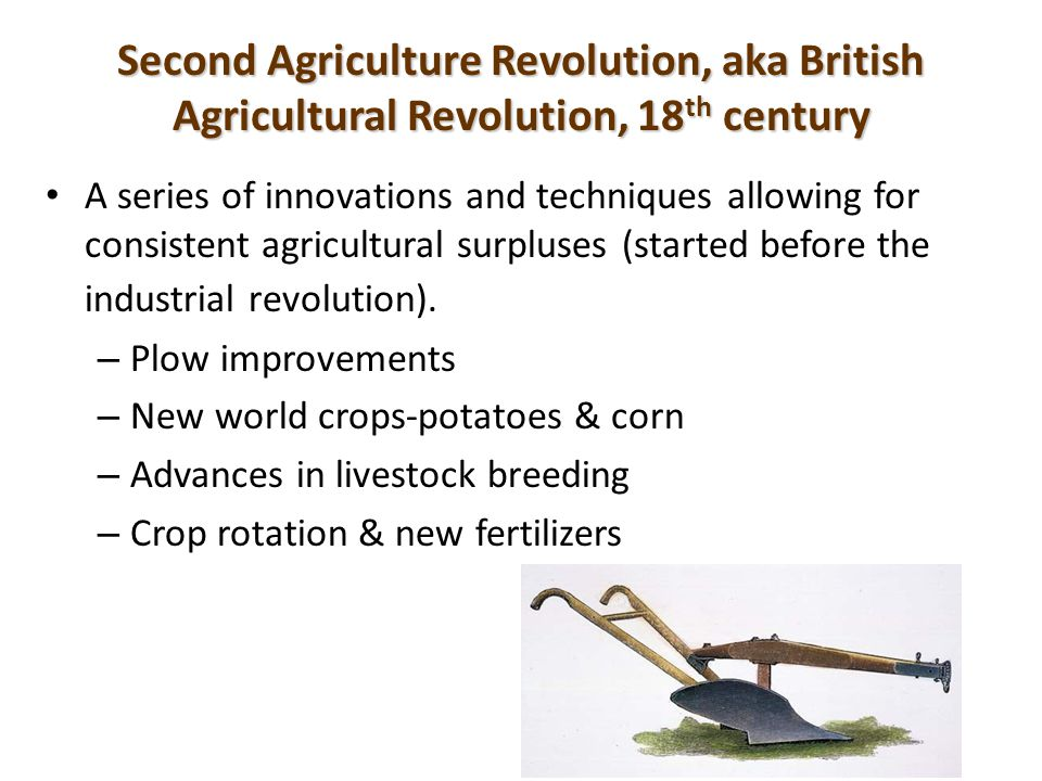 the impact of the agricultural revolution in britain