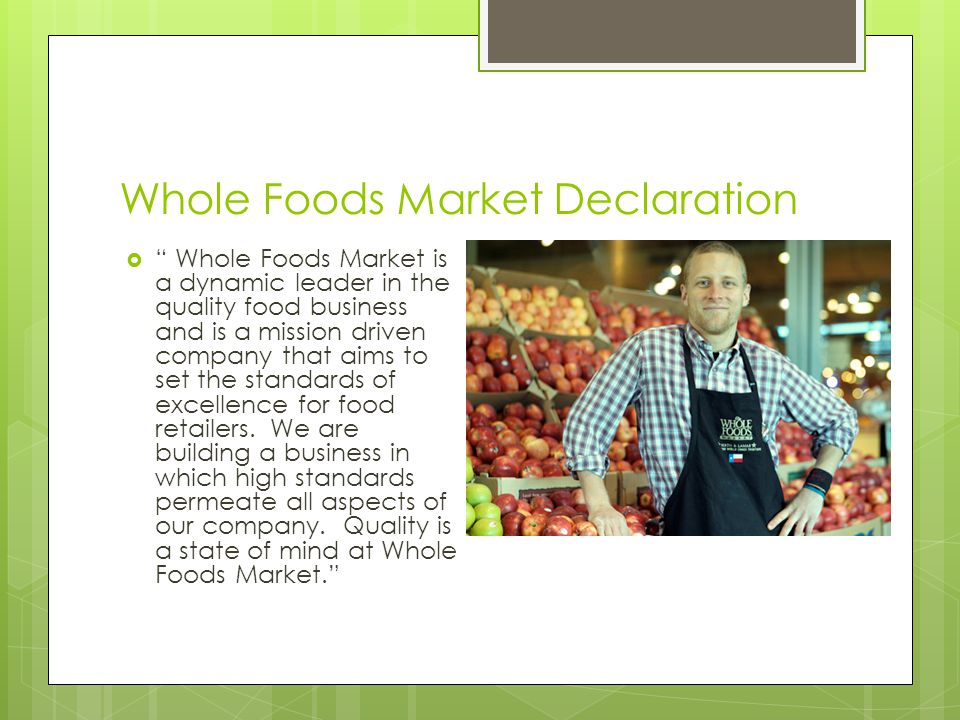 wholefoods strategic analysis Fundamental analysis on whole foods market inc key ratios, comparisons to grocery stores industry, retail sector, s&p 500 - csimarket.