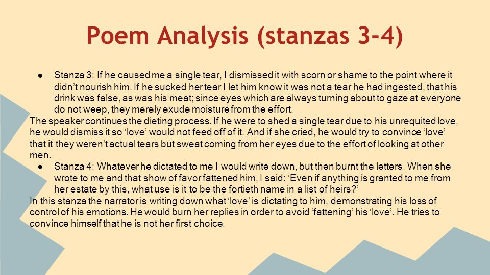 Stanzas written in dejection explication College paper