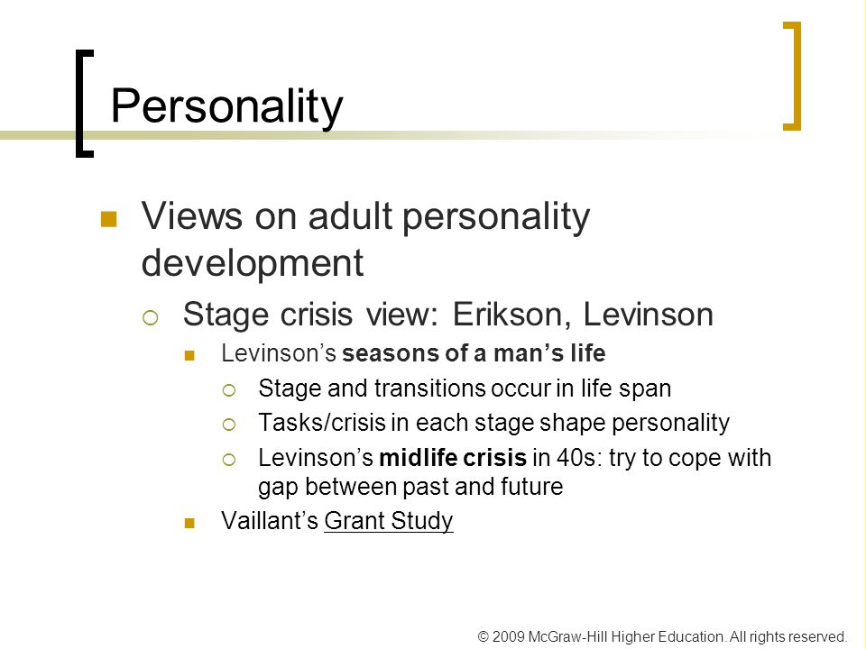 a comparison of eriksons and vaillants views of development 2018-4-9 may 13, 1994 obituary erik erikson, 91, psychoanalyst who reshaped views of human growth, dies by the new york times erik h erikson, the psychoanalyst who profoundly reshaped views of human development, died yesterday at the rosewood manor nursing home in harwich, mass.