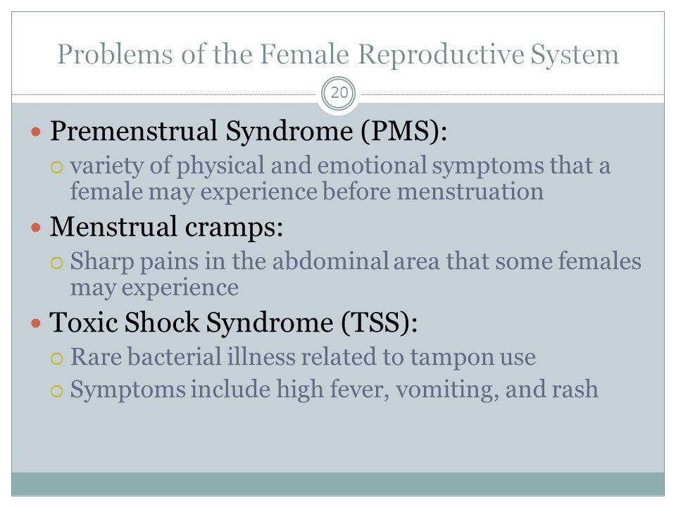 Problems of the Female Reproductive System