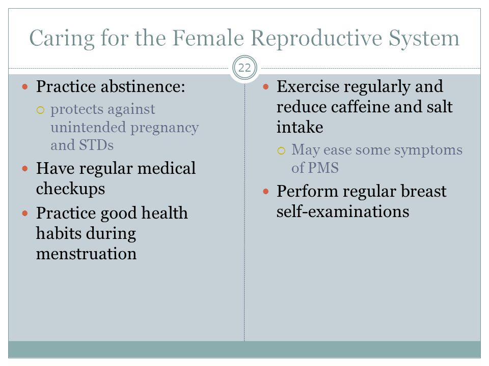 Caring for the Female Reproductive System