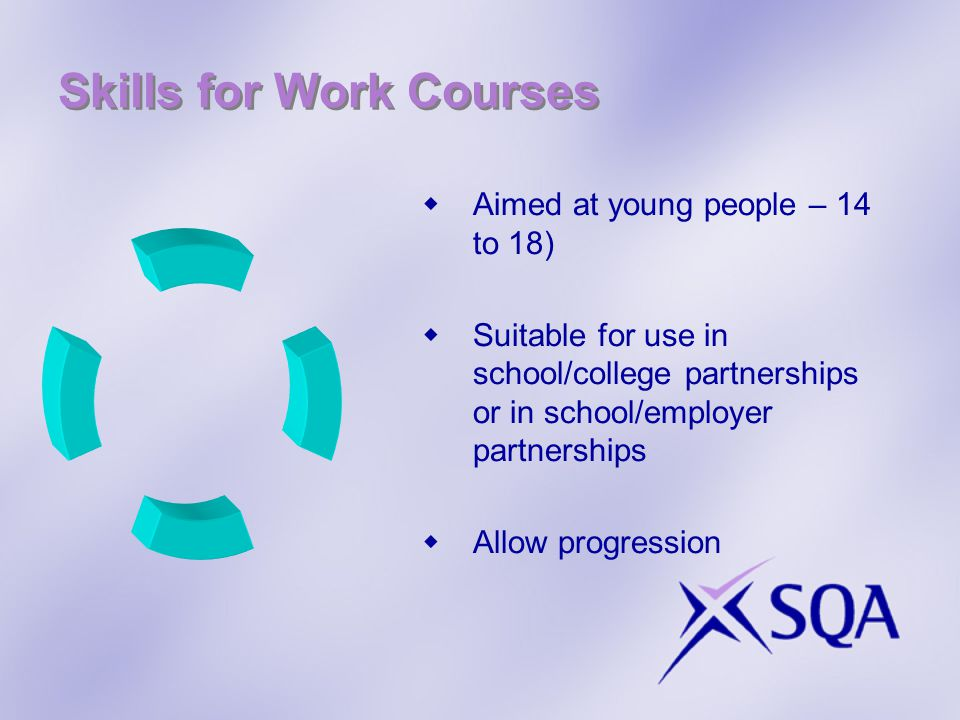 Skills for Work Courses