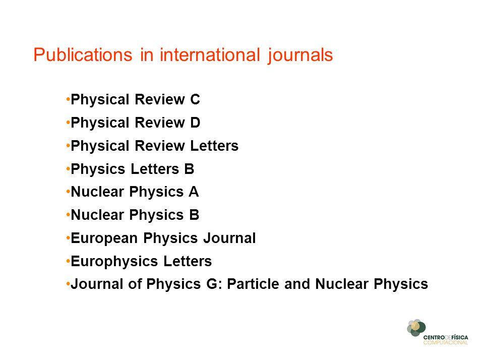 Publications in international journals