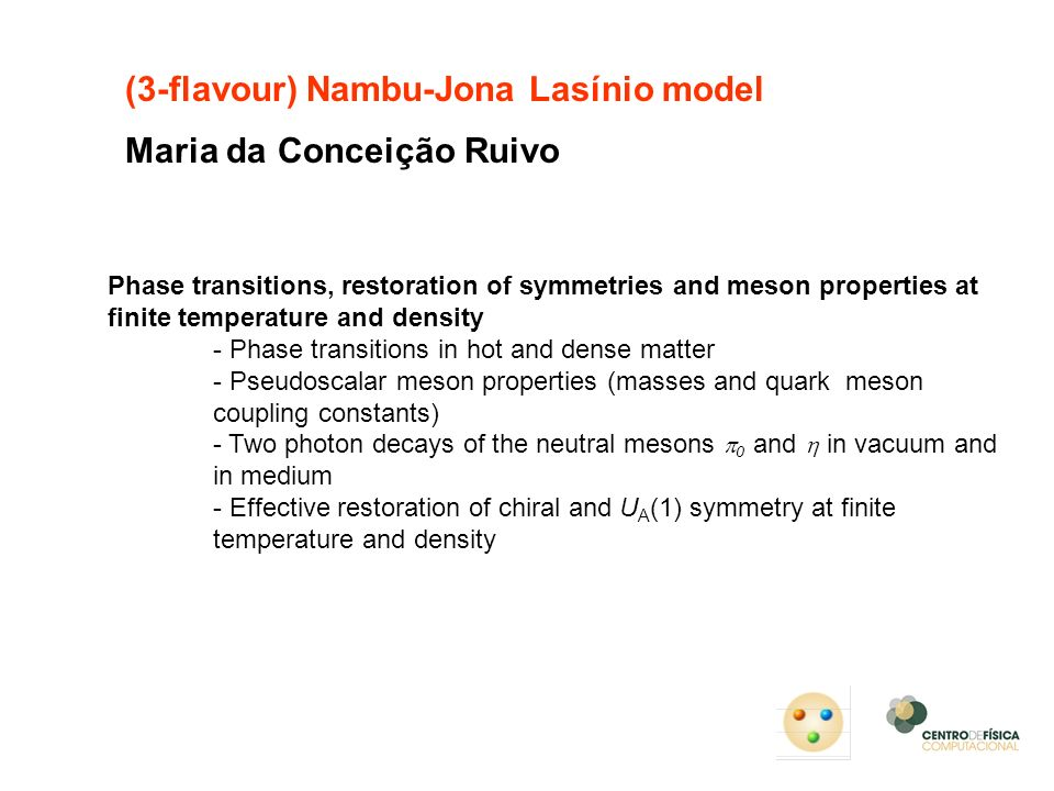 (3-flavour) Nambu-Jona Lasínio model