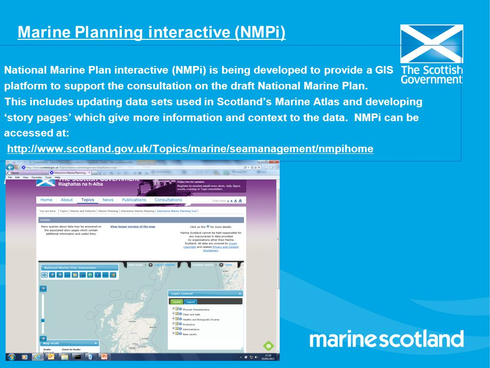 Marine Planning interactive (NMPi)