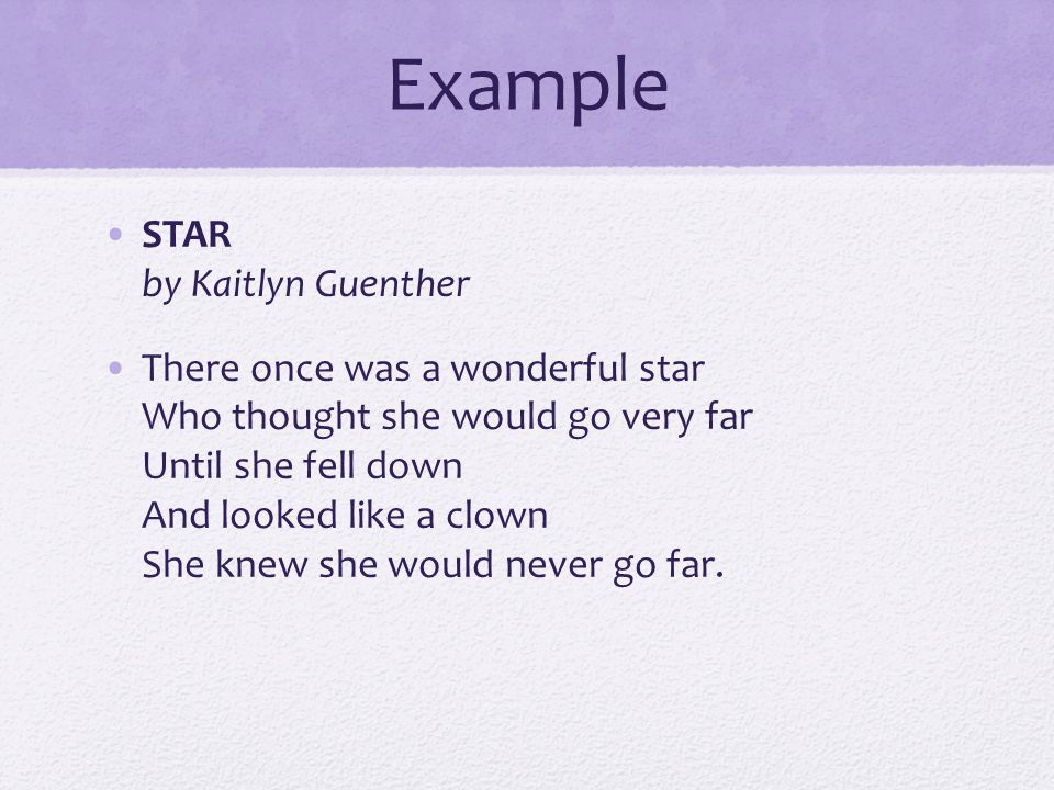 Example STAR by Kaitlyn Guenther