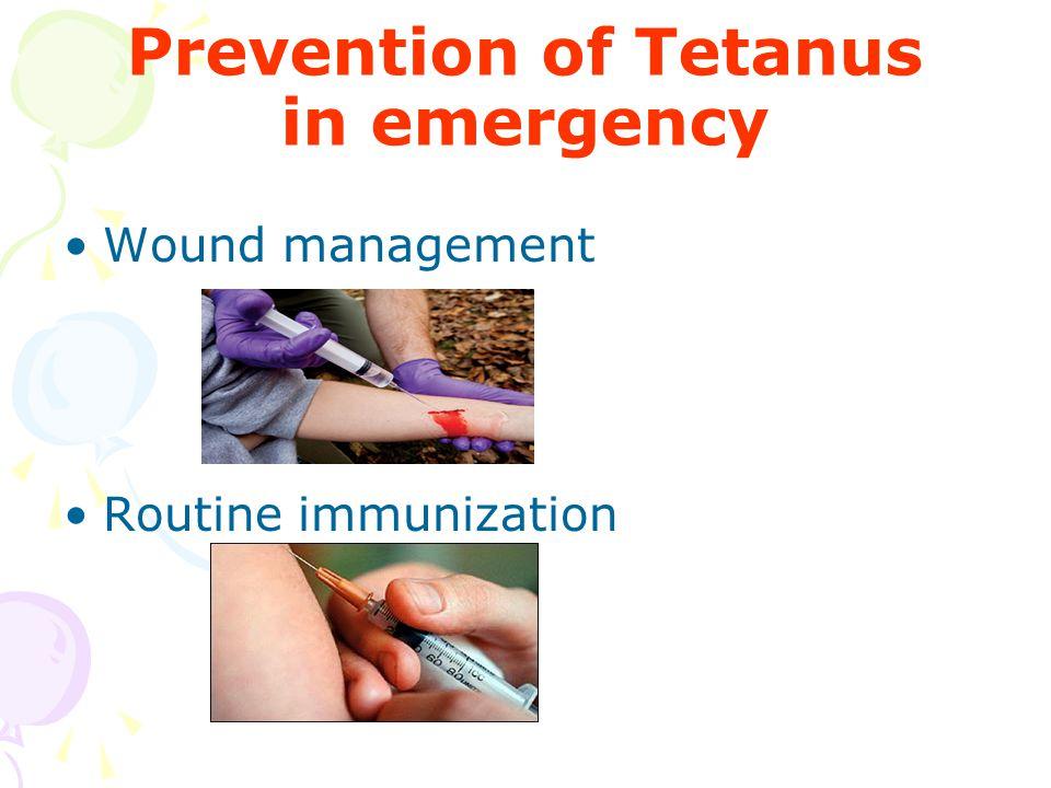 Prevention of Tetanus in emergency