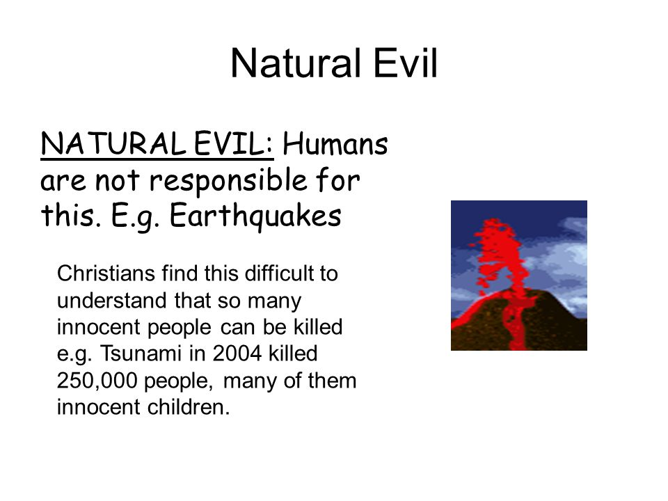 Why humans are responsible for evil