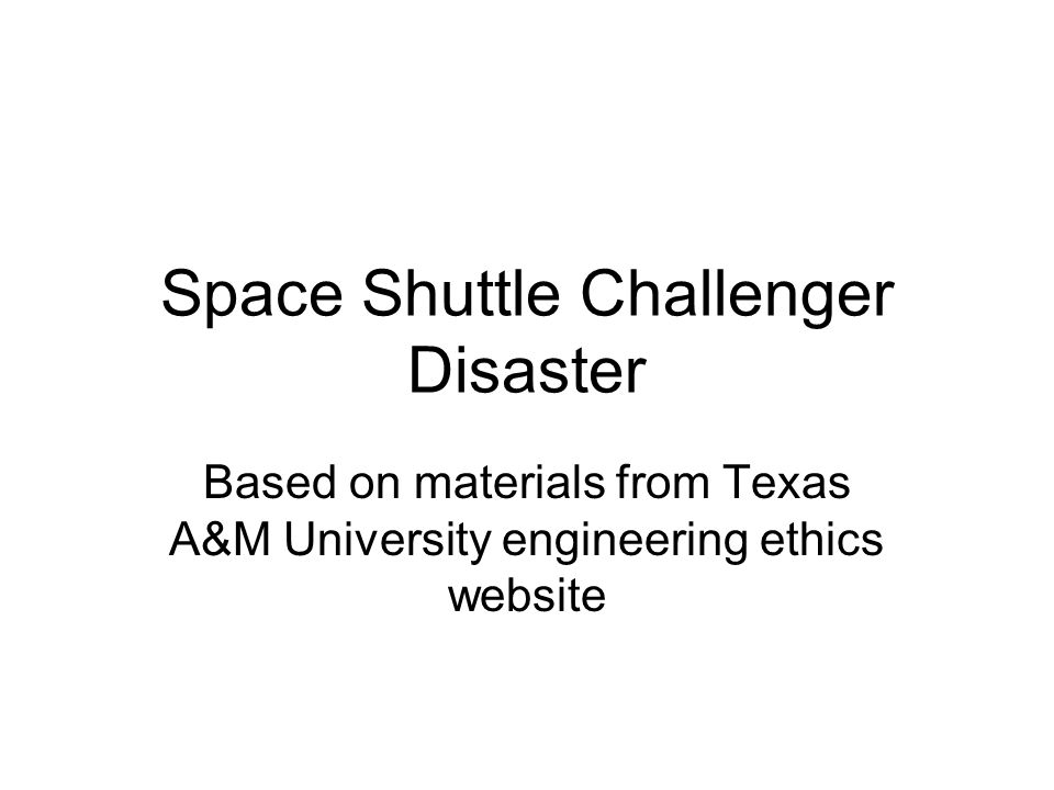 challenger case study The challenger disaster has been used as a case study in many discussions of engineering safety and workplace ethics o-ring concerns.