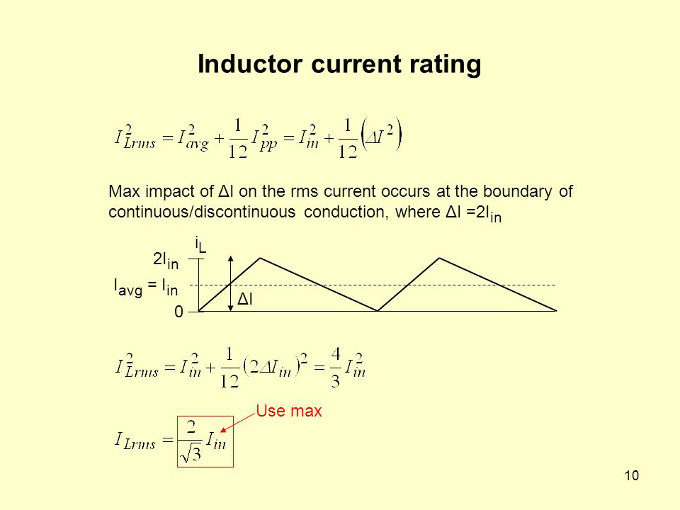 Inductor current rating