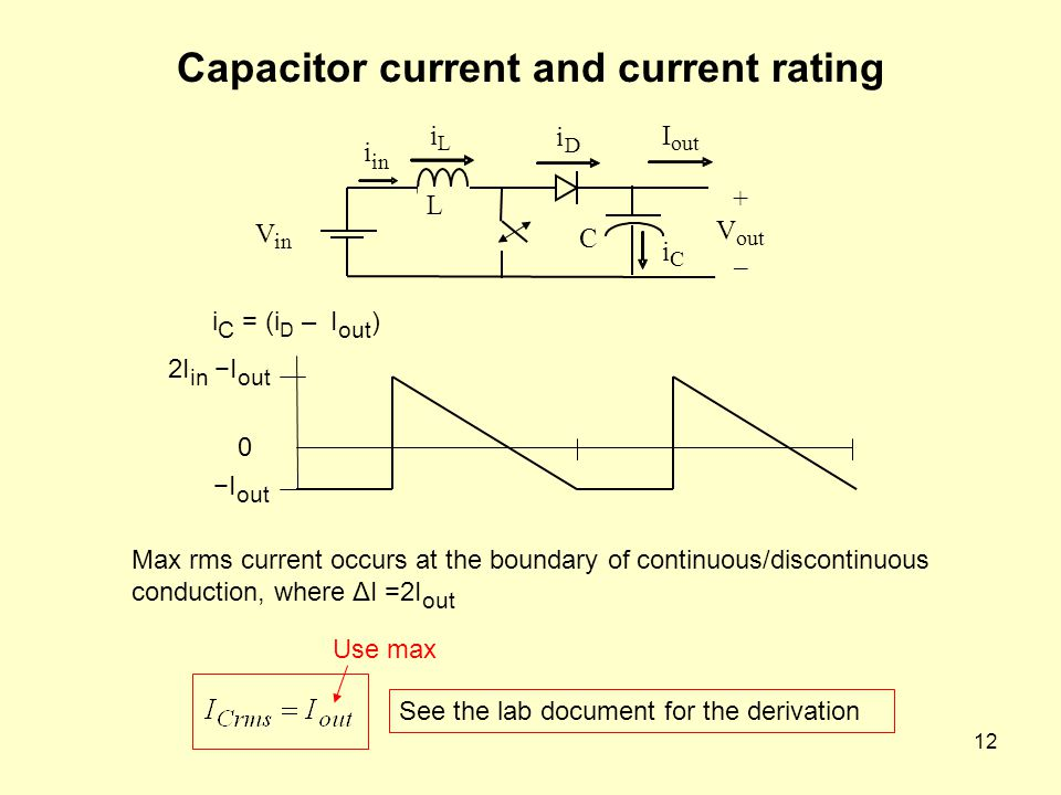 Capacitor current and current rating