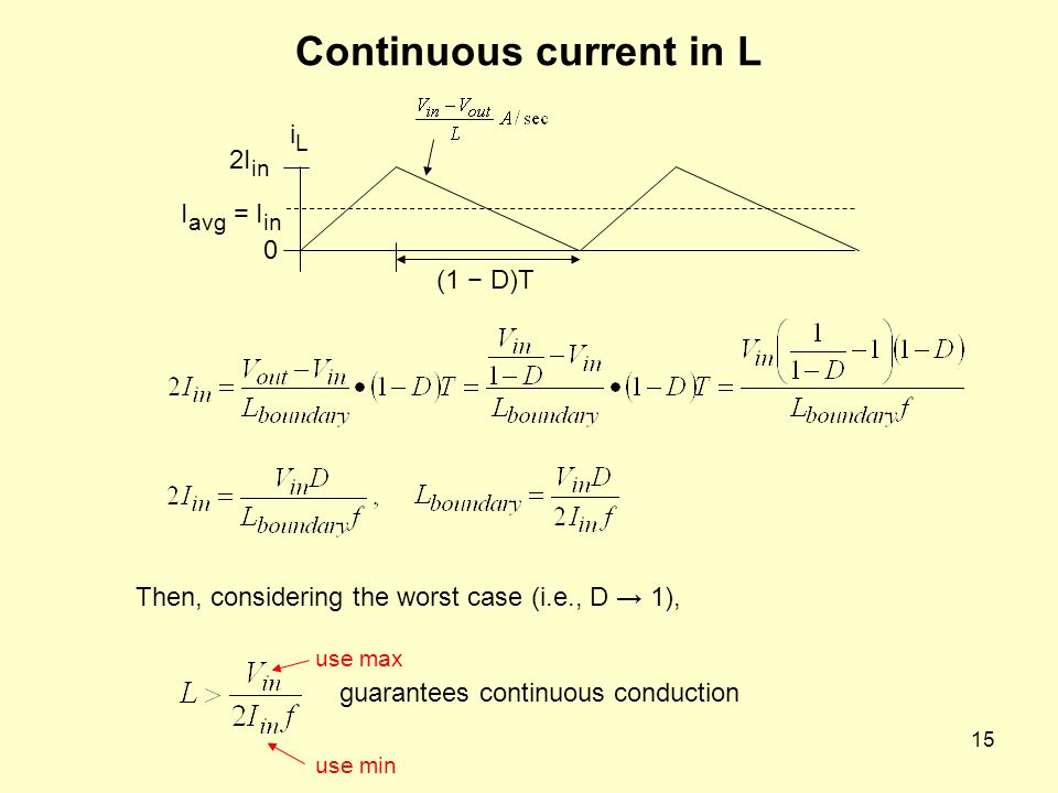 Continuous current in L