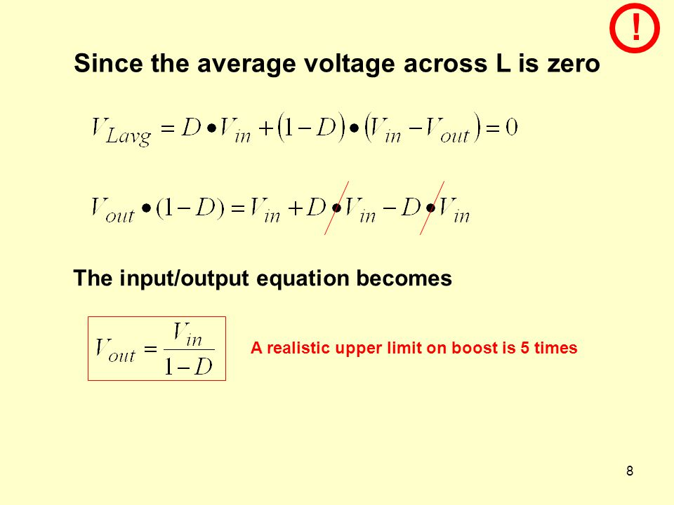 Since the average voltage across L is zero